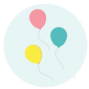 Des ballons colorés