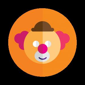 Une tête de clown