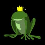 Le logo d'une grenouille