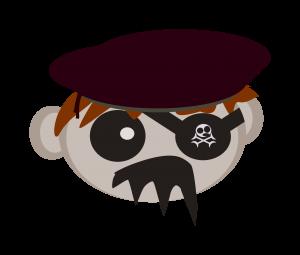 Une tête de pirate