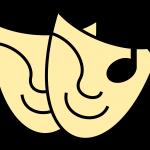 Un logo de masques de théâtre